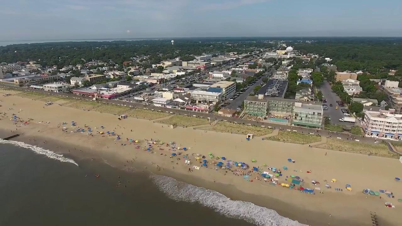 Rehoboth Beach Delaware Drone Flight 7 19 2017