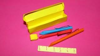 Origami : Plumier, stylo ✒️, règle