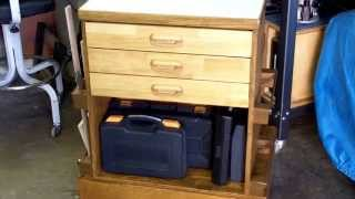 Completion of Delta Drill Press 3 drawer Cabinet on Mobile Base