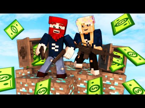 2700000€ BANK ÜBERFALL... (LIVE) - Minecraft Skybounds
