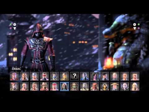 MKX - all character select screen intros