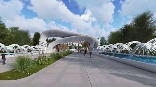 видео: Проект парка в Ташкенте