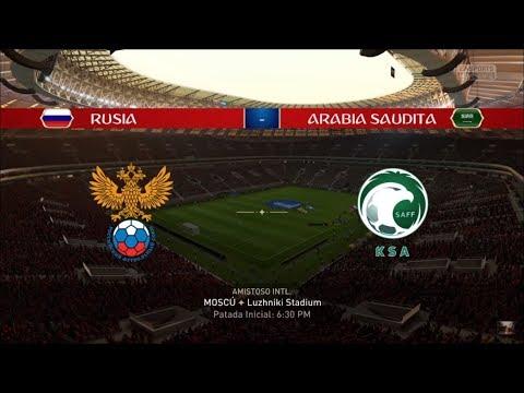 Simulación Russia Vs Arabia Saudita Russia 2018 Fifa 18