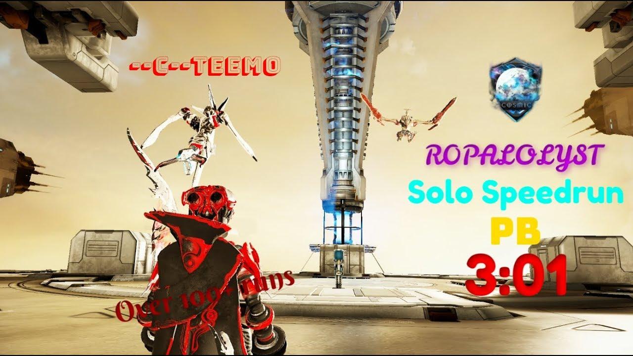 Warframe | Ropalolyst SOLO Speedrun | Cosmic Clan | PB | 3