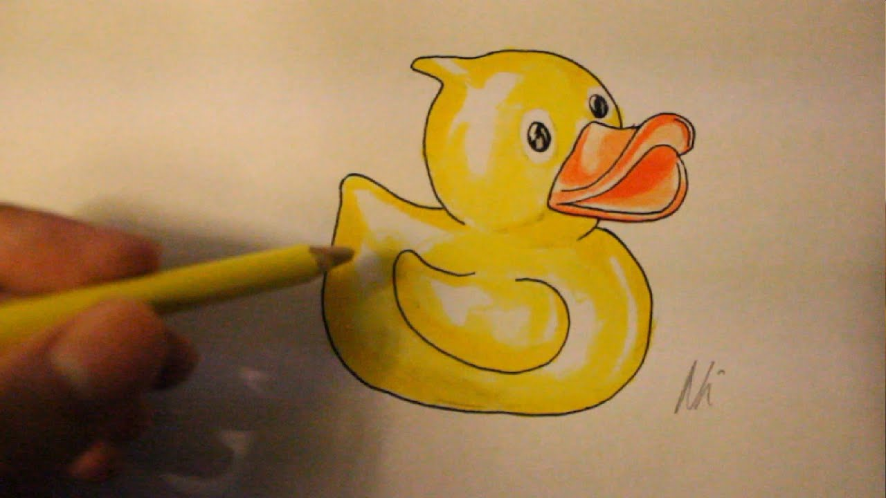 Easy Things To Draw For Beginners-How To Draw Rubber Duck ...