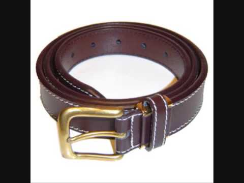 Stam leather belt