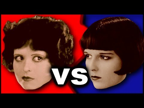 1920's Flappers: Louise Brooks Vs Clara Bow