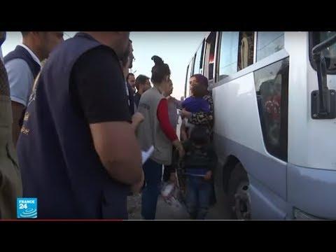 نزوح آلاف المدنيين من شمال شرق سوريا منذ بدء الهجوم التركي  - نشر قبل 2 ساعة