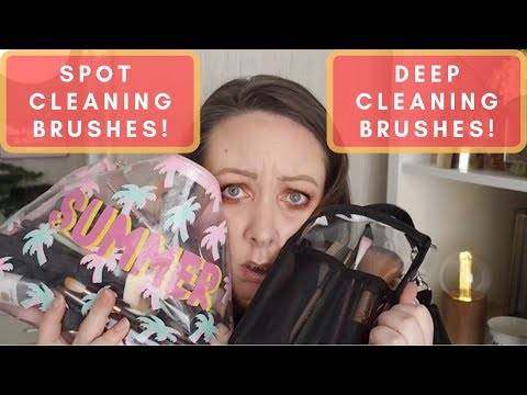 HOW TO SPOT CLEAN & DEEP CLEAN YOUR MAKEUP BRUSHES!