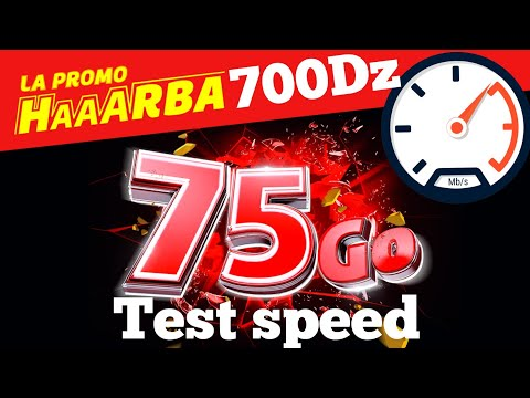تجربة سرعة الانترنت جيزي هاربة test speed Djezzy haaarba
