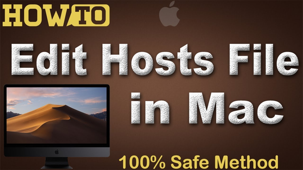 How to Edit / modify hosts file in macOS Mojave 10 14 or any other macOS