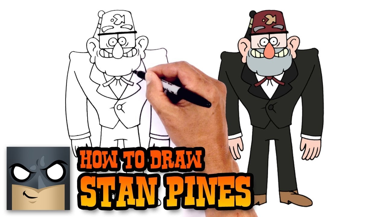 How to Draw Stan Pines   Gravity Falls