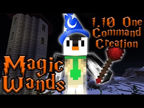 MAGIC WANDS | 1.10 One Command Block Creation: Minecraft