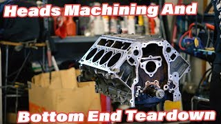 Junkyard LS Home Rebuild EP.1 Machine Work and Bottom End Teardown
