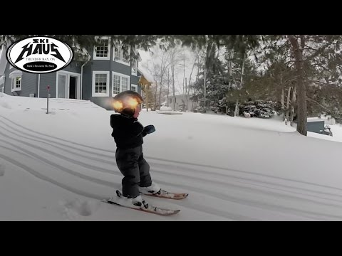 2 Year Old Hankster Skiing His First Powder Day!!!!