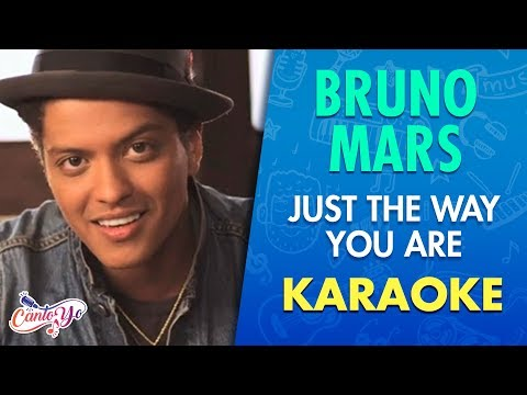 Bruno Mars - Just The Way You Are (Karaoke) | CantoYo