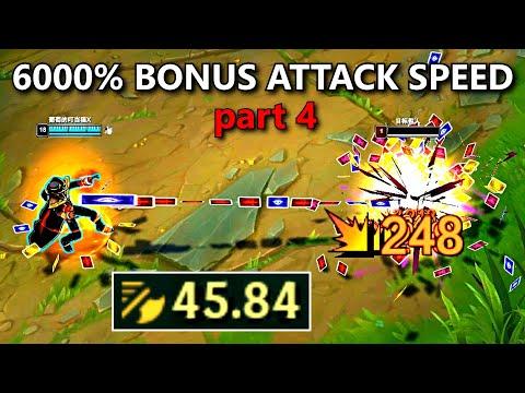 30.00+ ATTACK SPEED MONTAGE 4! (TF, Vel'Koz, Viktor, Teemo, Nautilus & More!)