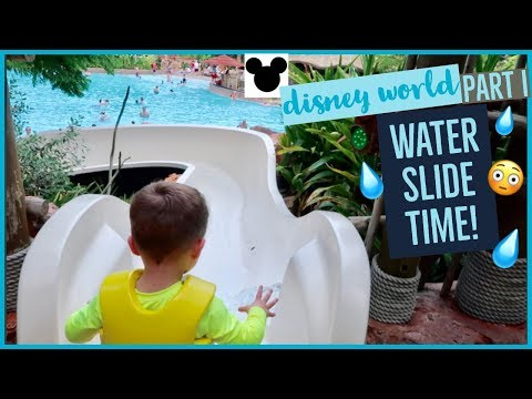 FIRST WATER SLIDE!💧😅 | EPIC START TO OUR DISNEY VACATION - VLOG I | Brianna K