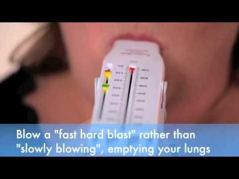 How To Use A Peak Flow Meter Youtube