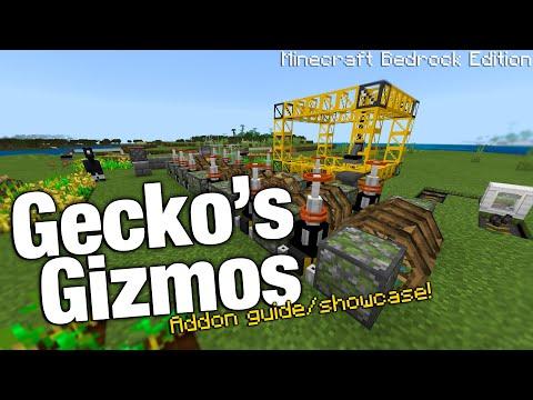 """Gecko's Gizmos"" Brand NEW Minecraft Bedrock Edition Automation Addon! [Guide/Showcase]"