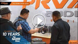 PRV Audio Brazil at The NAMM Show 2020 - Anaheim, CA.