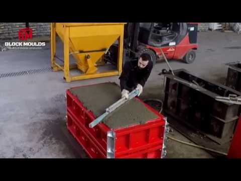 How to pour interlocking concrete blocks | Block Moulds