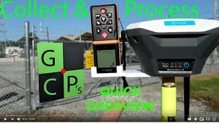 Collect and post process Ground Control Points (GCP's) using Emlid Reach RS and EZsurv