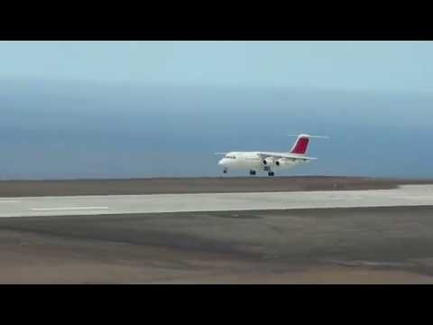 First four-engined aircraft to land on St Helena Island