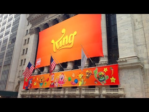 Candy Crush on NYSE floor for King IPO