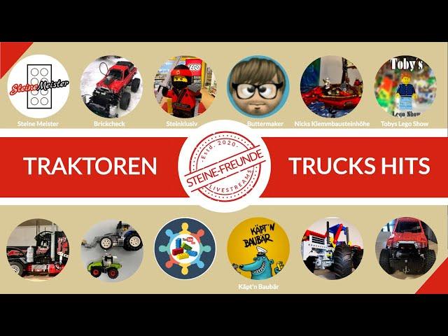 Traktoren und Trucks Hits mit coolen Klemmbaustein-Fans von diversen Marken und Mods
