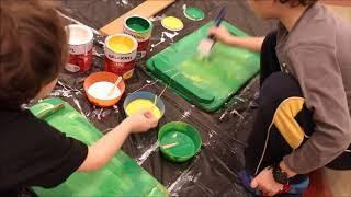S Balakrylem a la Jackson Pollock