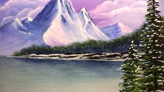 Урок рисования гуашью (акрилом). Горы.