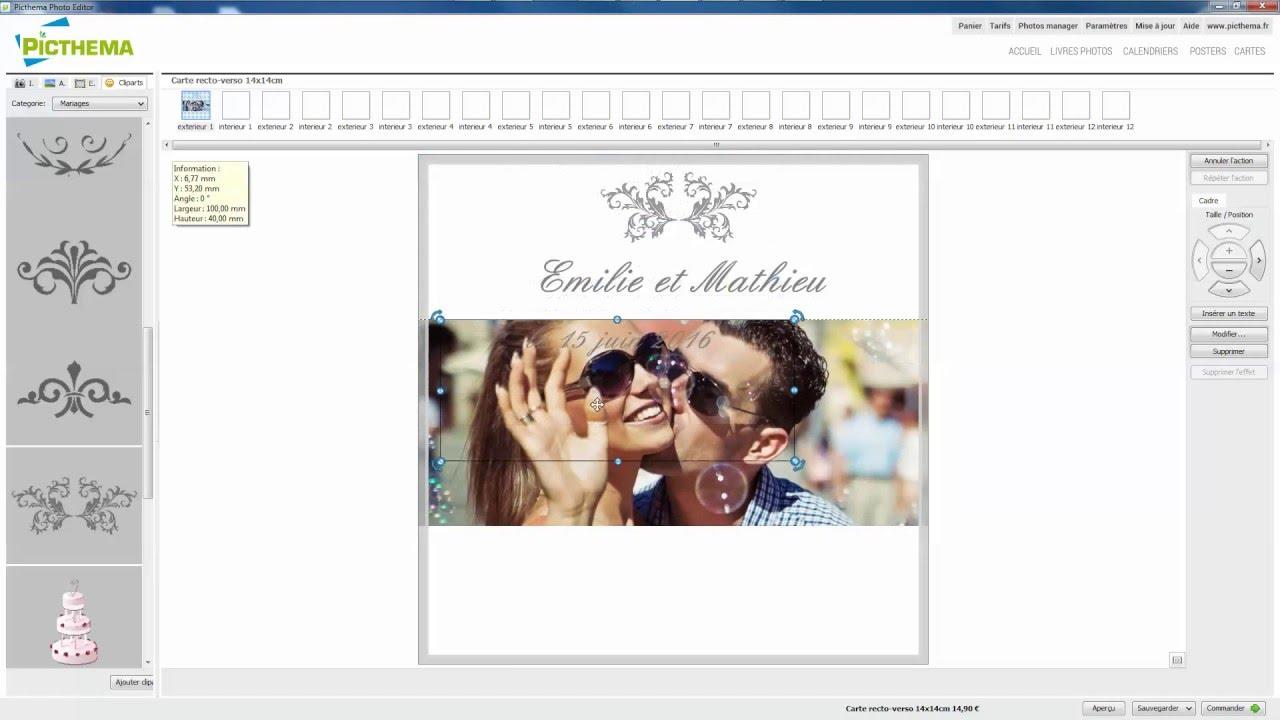 picthema - comment créer un joli faire-part de mariage ? - youtube