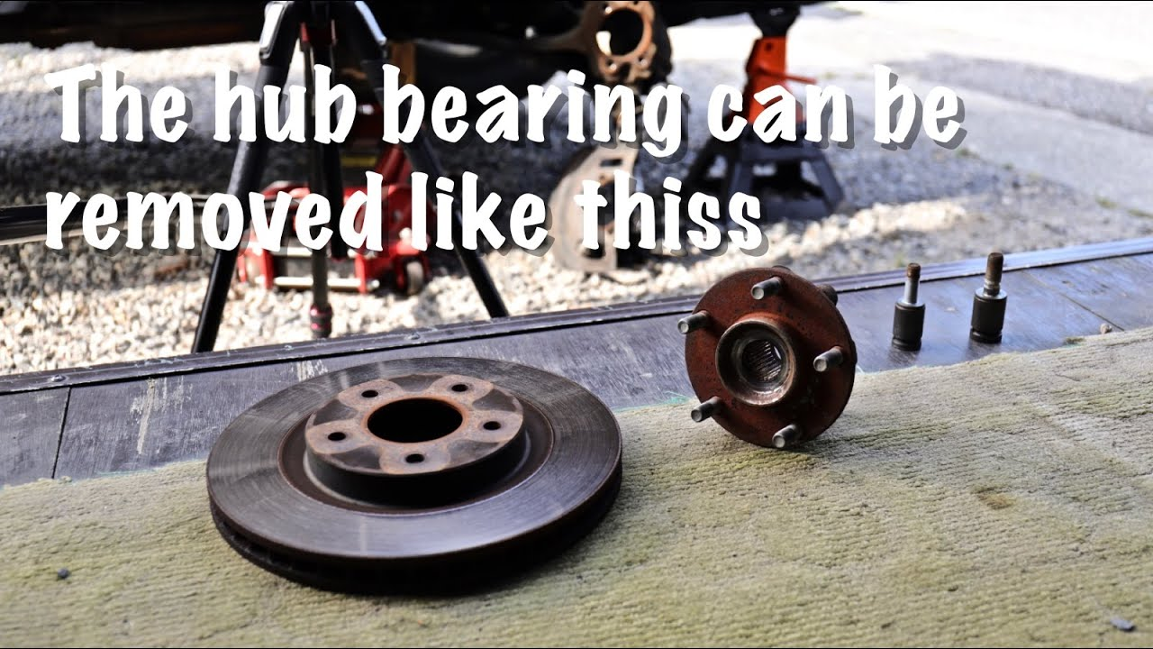 X-TRAIL T31 / The front hub bearing can be removed like this/ハブベアリングの外し方を知りたい?
