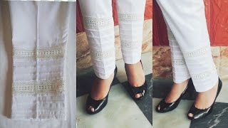 designer trouser cutting and stitching