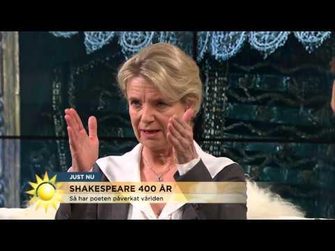 """Stina Ekblad om Shakespeare: """"Språket är så fysiskt och vackert""""  Nyhetsmorgon TV4"""