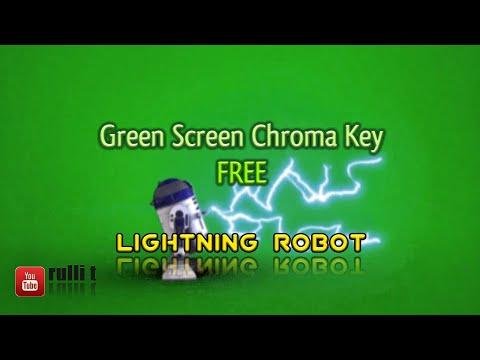Green Screen - LIGHTNING ROBOT animation 🔊 Chroma key