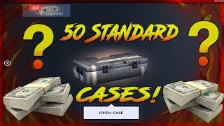 Critical Ops - Opening 50 Standard Cases! KNIFE!?