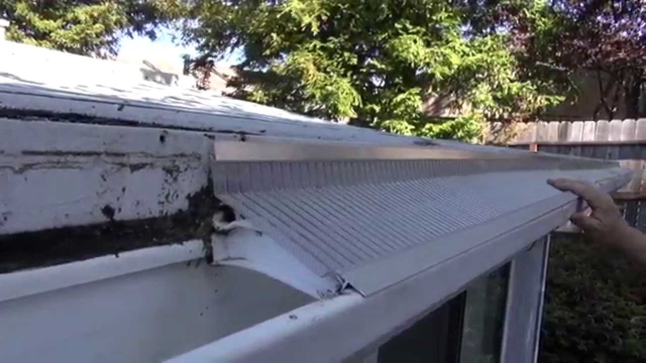 Easyon Gutterguard Installing On A Flat Roof Youtube