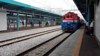 S-train(ソウル→麗水エキスポ) 益山駅 到着  S-train 익산역 도착