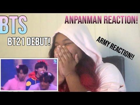 BTS- ANPANMAN (BT21 DEBUT STAGE) REACTION!