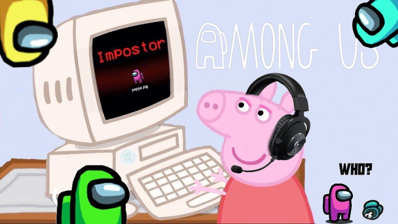 Download Peppa Pig plays AMONG US