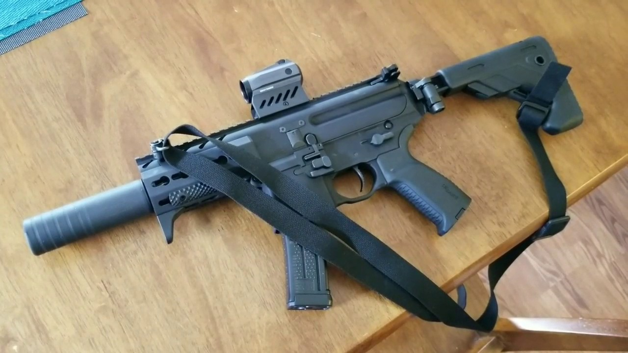 Sig Sauer MPX-K Factory SBR with SilencerCo Omega 9K and KE ARMS SLT-1  Trigger