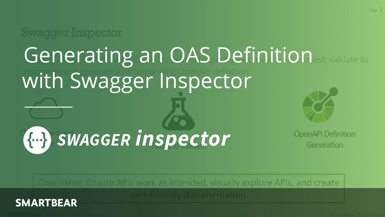 Generating an OAS definition with Swagger Inspector | OpenAPI Specification