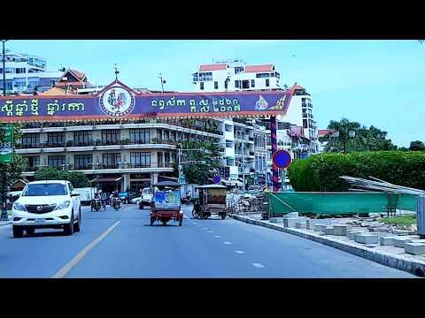 Sight View of Phnom Penh City Along the Tole Sab River, Cambodia
