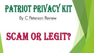 Video Patriot Privacy Kit By C .Peterson Review - Scam or Legit? download MP3, 3GP, MP4, WEBM, AVI, FLV Januari 2018
