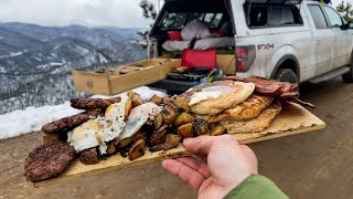 Cooking a Mountain Man Breakfast In My Truck