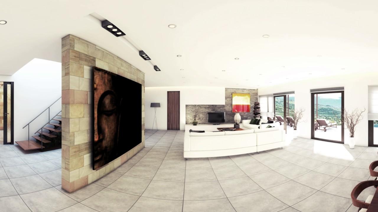 360 Panorama Interior Render of Luxury Villa in Bali - YouTube