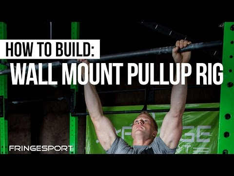 How to install a wall mount pullup rig (in your garage)