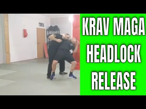 Krav Maga training- release from a side headlock